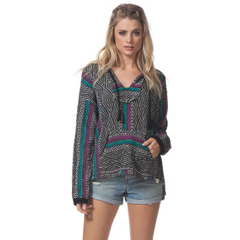 Rip Curl Black Sands Poncho - Charcoal