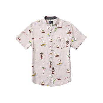 Roark Revival Tourister S/S Button Up By Jamie Thomas - Grey