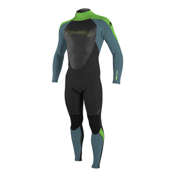 O'Neill Youth Epic 4/3 Wetsuit - Black / Dusty Blue / Day Glo