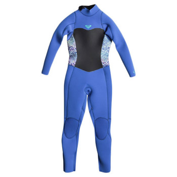 Roxy Girls Syncro 4/3 Back Zip Wetsuit - Sea Blue