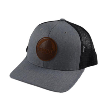 Moment Dark Leather Patch Rock Hat - Charcoal / Black