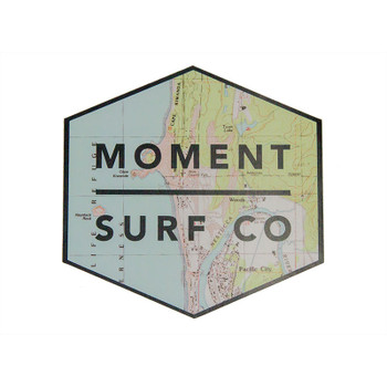 Moment Boxed Logo Sticker - Pacific City Map