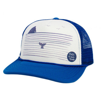 Cold Water Rock N' Whale Trucker Hat - Royal