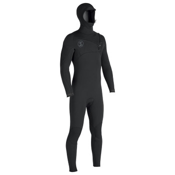 Vissla 7 Seas 4/3 Hooded Full Suit - Black With Jade