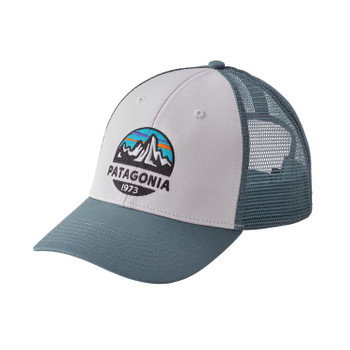 Patagonia Fitz Roy Scope Lopro Trucker Hat - White / Shadow Blue