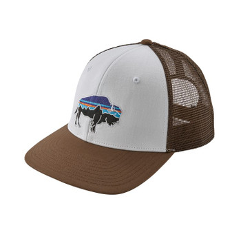 Patagonia Fitz Roy Bison Trucker Hat - White / TImber Brown