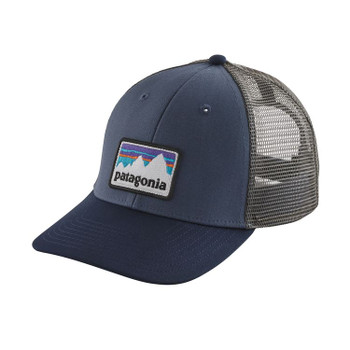Patagonia Shop Sticker Logo Lopro Trucker Hat - Dolomite Blue