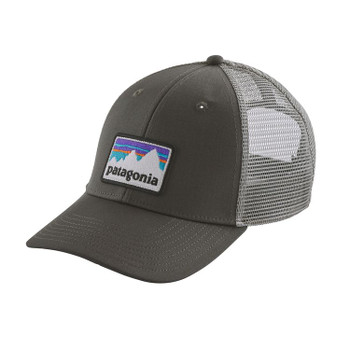 Patagonia Shop Sticker Logo Lopro Trucker Hat - Forge Grey
