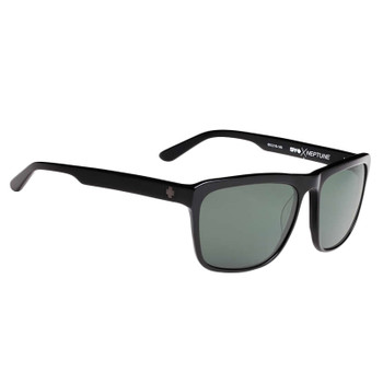Spy Neptune Sunglasses - Black / Happy Grey Green Polar