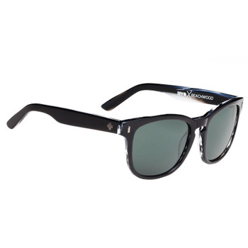 Spy Beachwood Sunglasses - Black Horn / Happy Grey Green