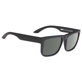 Spy Discord Sunglasses - Soft Matte Black / Happy Grey Green