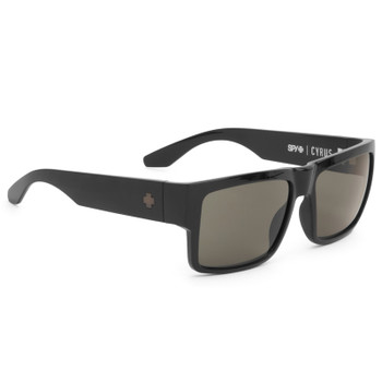 Spy Cyrus Sunglasses - Black / Happy Grey Green