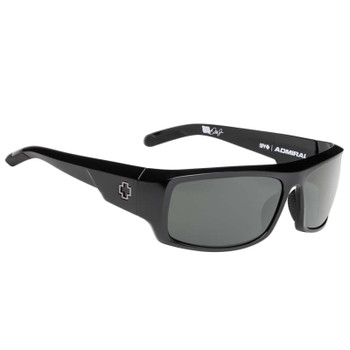 Spy Admiral Sunglasses | Black / Happy Grey Green
