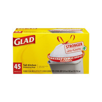 Glad Tall Kitchen 13 Gallon Trash Bag, 45 Count