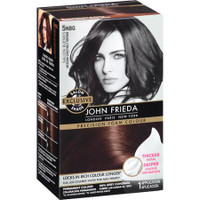 Achieve coverage so flawless, hair looks as if it were colored in a salon John Frieda's thick, dense, superior saturating foam formula helps to lock in rich long-lasting color. This non-drip foam formula penetrates strands for deep color saturation and spreads easily into roots for complete coverage without patchiness. The result is fade resistant, salon-quality color. You can achieve gorgeous, natural-looking color results at home. Available only from the expert colorists of John Frieda hair care.    Formulated with crushed pearls and sweet almond oil, this moisturizing formula protects and preserves brunette color as it rehydrates and replenishes dry hair.