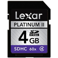 The Platinum II 60x Secure Digital High Capacity (SDHC) memory card is a high-speed, high-capacity card designed for full-motion video and sustained rapid-fire picture-taking with SDHC-enabled digital devices. The card is speed-rated at 60x, the equivalent of a minimum sustained write speed capability of 9MB per second.