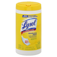 Lysol disinfecting wipes, Lemon and lime blossom.