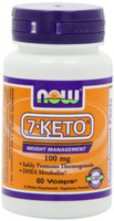 7-Keto® is a natural occuring metabolite of DHEA, providing the same benefits of DHEA, without its associated side effects. Because the body's production of DHEA declines with age, so does the production of 7-Keto®. Weight gain is a common sign of aging that often accompanies the decreased production of DHEA and its metabolites. Supplementation with NOW® 7-Keto® can safely promote thermogenesis, thereby supporting the maintenance of healthy body weight.
