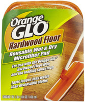 Orange Glo Wet & Dry Cleaning Pad contains millions of tiny, wedge-shaped microfibers that grab, trap, and absorb messes for quick, easy, and effective cleaning. Use with the Orange Glo Mop and other Orange Glo Hardwood Floor care products: 4-in-1, Everyday Cleaner, and Refinisher