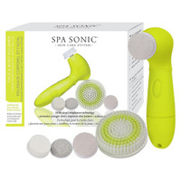 Spa Sonic Skin Care System Face and Body Polisher Professional Kit, Optic Yellow