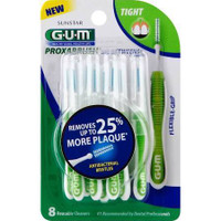 GUM Go-Betweens Proxabrush Cleaners Tight 8 Each  (Pack of 3)