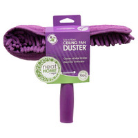 "Ceiling Fan Duster The Ceiling Fan Duster lets you clean ceiling fans and other hard to reach spots without dangerously climbing on chairs or ladders. The double-sided brush removes dust from both sides of the fan blades in one swoop using static electricity. Also, works great as a dust mop! Fits ceiling fan blades up to 6"" wide handle easily adjusts to 27"", 37"", or 47""."
