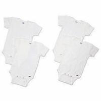 Gerber White Short Sleeve Onesies