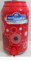 Cool Gear Can Beverage Drink Dispenser 128 Fl Oz Large Jug Bursts Of Dots Red  This beverage dispenser is shaped like a soda can/ Red with bursts of dots on it.  128 fl oz (3.78 l).  BPA free  845604018408