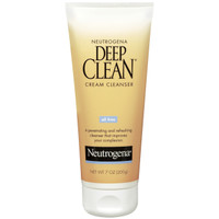 Neutrogena Deep Clean Cream Cleanser 7 oz  Neutrogena Deep Clean(R) Cream Cleanser cleans so deeply and thoroughly that it improves the look and feel of skin. Skin is left refreshingly clean with no pore-clogging residue. Your complexion looks fresh and healthy; Feels smooth and soft from deeper, more thorough cleansing. This clean-rinsing, daily cream cleanser contains beta hydroxy to penetrate deep into pores, dissolving dirt, oil and make-up. It also removes dead surface skin cells that can dry, roughen and dull your complexion. Softer, fresher skin will emerge.  070501060957 Neutrogena