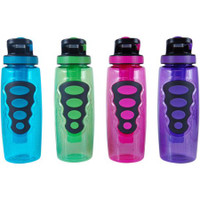 Product Description:  Cool Gear 32-Ounce Avenger Bottle with Freezer Stick, Set of 4  The Cool Gear Solstice is a 32 oz water bottle, model 723. It is great for keeping hydrated. Cool Gear's included EZ-Freeze stick is great for keeping your drinks cool. Do not freeze bottle with liquid inside. Fits in standard size cup holders. Flip top and straw for easy drinking, great for kids! BPA, PVC, Phthalates Free  32oz TritanTM material water bottle - Shatter-resistant No bisphenol A (BPA) Flip top spout with an attached straw for easy drinking, great for kids includes EZ-Freeze stick that has non-toxic freezer gel Several colors, fits in standard size cup holders  Item Specifics:  UPC: 845604015605 Brand: Cool Gear