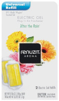 Renuzit Gel Electric Air Freshener Refill, After The Rain, .27 Ounce  Item Description:  About the Product Refills also fit Glade electric warmers Lasts up to 30 days Available in a variety of scents and colors to accent any room  Create a warm and cozy atmosphere in your home this holiday season with the aroma of one of our limited edition Renuzit brand scents.  Item Specifics:  UPC: 023400370306 Brand: Renuzit