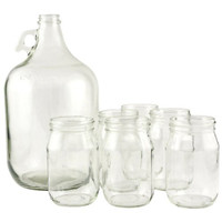8 Piece Country Folk Moonshine Set  Product Description:  Include this Country Folk Moonshine Set in the festivities and be prepared for a little hillbilly fun! This 8 piece set includes a 1 gallon glass jug and 6 - 16 oz glass drinking jars, perfect for a rowdy, down home, country gathering. Fill this country chic jug with the summertime classics - everything from lemonade, punch, sweet tea, and even mixed drinks! Whether relaxing on your back porch watching a sunset, or sitting on the front stoop in the city watching cars pass by, this charming Country Folk Moonshine Set is sure to transport you to the hill valley where the livin' is easy.  Item Specifics:  UPC: 031009480975 Brand: Libbey
