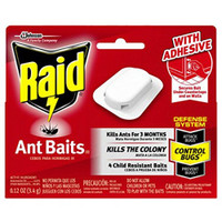 Kills the colony.     Kills ants for 3 months.     Child resistant.     Kills bugs at the source.     Baits fit snugly in corners and along ant trails.