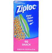 Ziploc Snack Bags, 90 ct