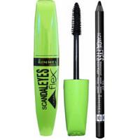 Rimmel Scandal Eyes Flex and Volume Mascara with pencil, 003 Black