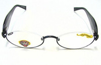 Ed Hardy Reading Glasses, EHR 202 - BLACK, +150