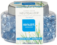Renuzit Super Odor Neutralizer Pearl Scents Pure Breeze Air Freshener, 5.64 oz