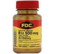 FDC Vitamin B12 500 MCG, 100 tablets