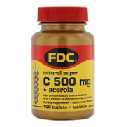 FDC Vitamin C 500 Acerola, 100 tablets