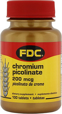 FDC Chromium Picolinate 200 Mcg, 100 tablets