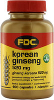 FDC Vitamin Korean Ginseng 520MG, 100 tablets