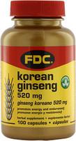 FDC Vitamin Korean Ginseng 520MG, 100 tablets