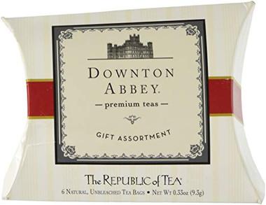 Downtown Abbey Premium Teas Gift Assortment Pillow Box, 6 Assorted Flavor Unbleached Tea Bags, .33 oz
