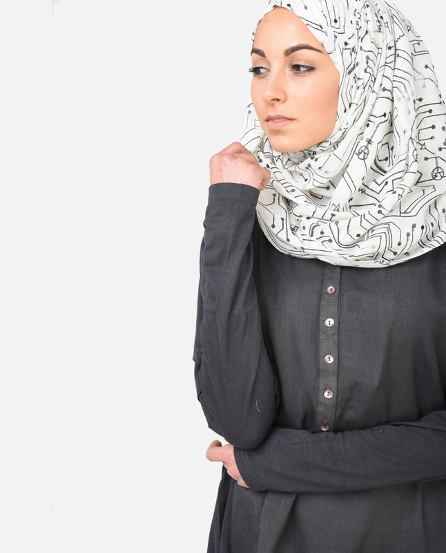 Digital Charm Hijab