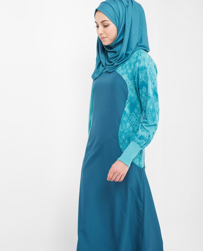Brilliant Blue Jilbab