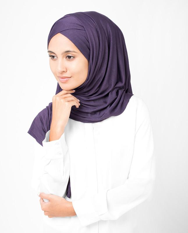 Mulled Grape Viscose Jersey Hijab