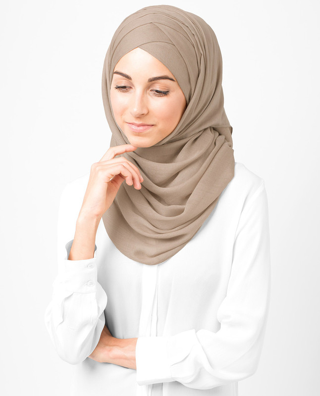Warm Taupe Viscose Hijab
