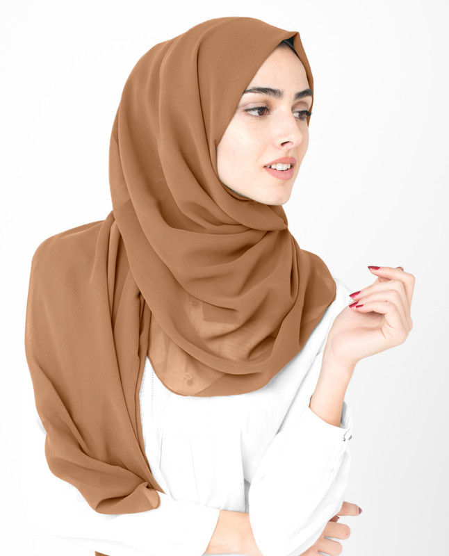 Toast Poly Georgette Scarf