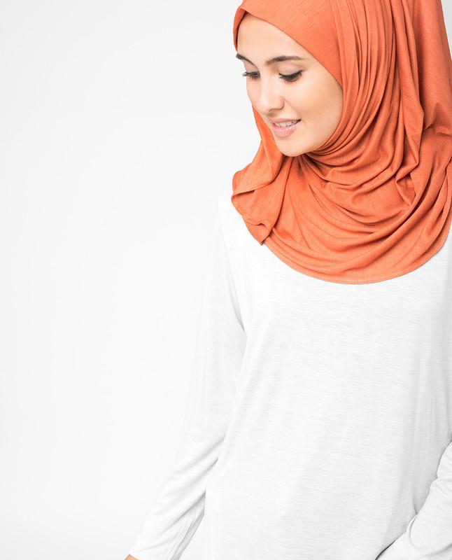 Mango Orange Viscose Jersey Hijab