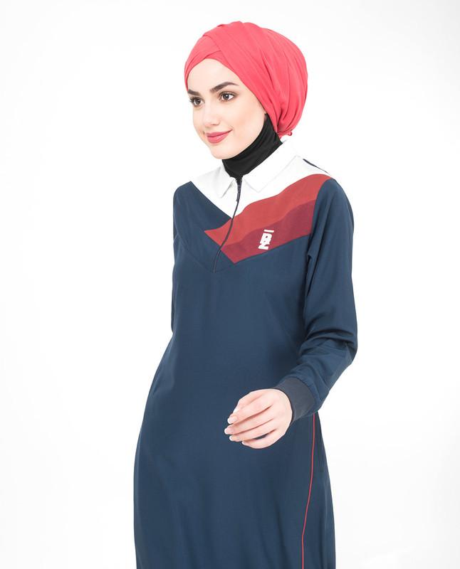 Classic Blue Zip Collared Jilbab